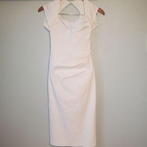 Stop Staring! White Bodycon Bombshell Dress